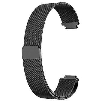 """Dla Fitbit Inspire / 2 / HR / Ace 2 Pasek Milanese Band Ze stali nierdzewnej magnetyczne[małe (5.3""""-7.9""""),czarny]"""