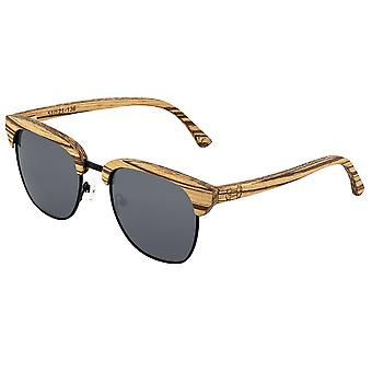 Earth Wood Sassel Polarized Sunglasses - Zebrawood/Black