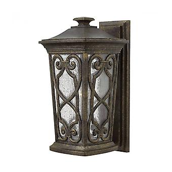 Enzo Outdoor Wall Light, Glass, Aluminum, Fall Color