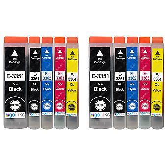 2 Satz mit 5 Tintenpatronen als Ersatz für Epson T3357 (33XL-Serie) Kompatibel/Nicht-OEM von Go-Tinten (10 Tinten)