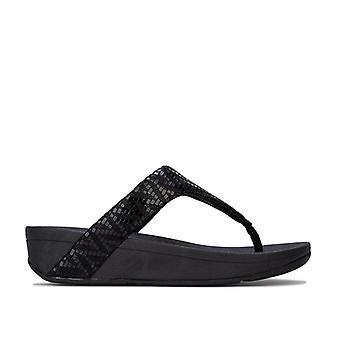Kvinnor & apos; s Fit Flop Lottie Chevron Mocka Toe Thong Sandaler i svart