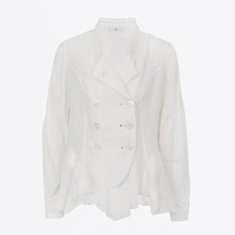 HIGH  - Hitherto - Double-Breasted Jacket - White