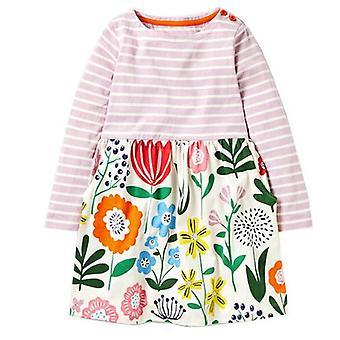 Long Sleeve Dress , Stripe, Flower Motif, Infant