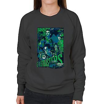 Ghostbusters Comic Style Poster Women's Sweatshirt