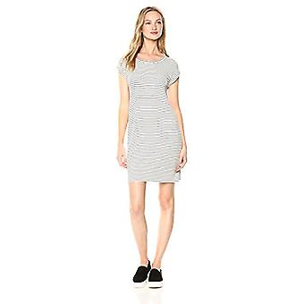 Brand - Daily Ritual Women's Supersoft Terry Muscle Tee Dress, White-B...
