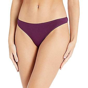 Essentials Women's 6-Pack algodón Stretch Thong Panty, Plum Neutrals, S