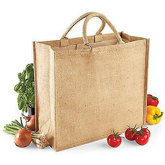 Westford Mill Jumbo Jute Shopper Bag (29 Litres)