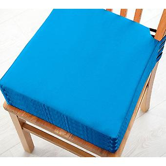 Turquoise 4pk Seat Pad Cushions with Secure Fastening Dining Kitchen Chairs Soft Cotton Twill