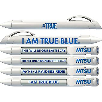 Greeting Pen College Pen- Mtsu Braggin' Droits Tournant Message 6 Pen Set 20570