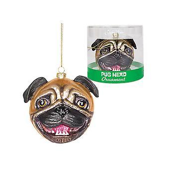 Archie McPhee Pug Head Ornament