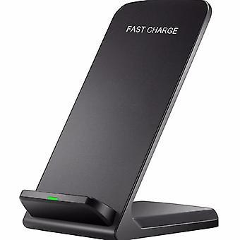 Qi wireless charging mobile phone bracket (black)