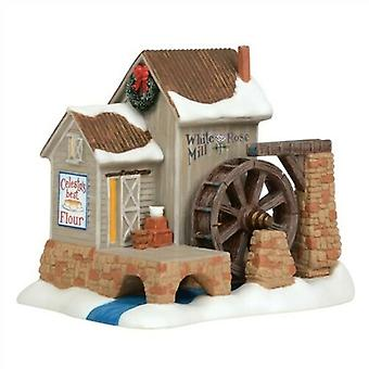 Dept 56 Nev White Rose Mill Jim Shore Collectible Village
