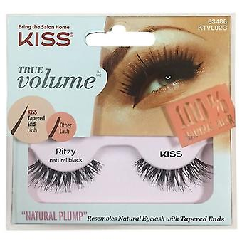 Kiss True Volume Tapered End False Lashes - Ritzy - Lash Adhesive Included