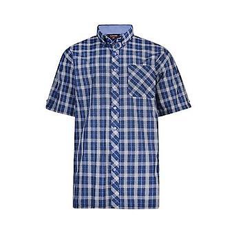 Espionage Navy Blue & White Check Shirt