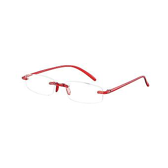 Reading Glasses Unisex Memory Red Strength +4.00 (le-0103B)
