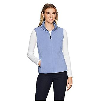 Essentials Women's Full-Zip Polar Fleece Vest, Blue, Small