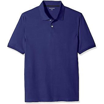 Essentials Men's Regular-Fit Cotton Pique Polo Shirt, Navy, X-Large
