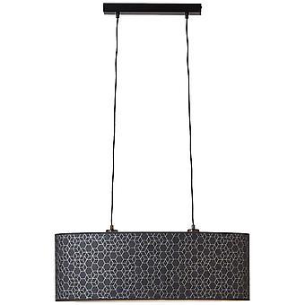 BRILLIANT Galance Hanglamp 2flg Zwart binnenlichten, hanglampen,-balken | 2x A60, E27, 40W, geschikt voor normale lampen