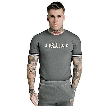 SikSilk Signature T-Shirt - Grey
