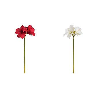 Hill Interiors Single Artificial Amaryllis Flower Stem