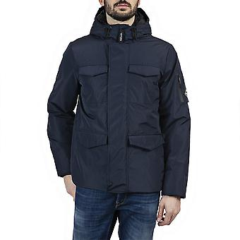 Toista Polyester Slim Fit Navy Jacket