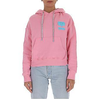 Chiara Ferragni Cff133onk Femme-apos;s Pink Cotton Sweatshirt