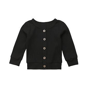 Príležitostné novorodenca Dojčenské dievčatko s dlhými rukávmi pevná bavlna pletený sveter