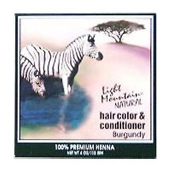 Light Mountain Natural Hair Color and Conditioner, Burgundy, 4 Oz