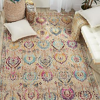 Vintage Kashan VKA04 Elfenbein Multi Rechteck Teppiche traditionelle Teppiche