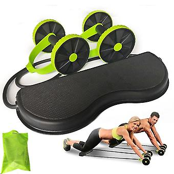 Ab Wheels Roller For Muscle Trainer Exercise - Stretch Elastic Abdominal Resistance Pull Rope Tool