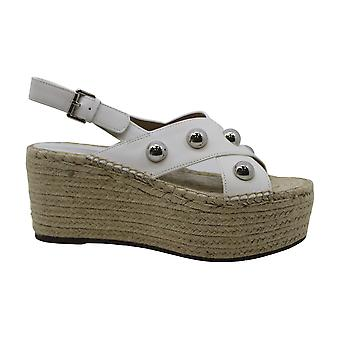 Marc Fisher Women's Shoes Rella Leather Open Toe Casual Espadrille Sandals