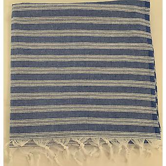 Aqua Perla Ankara2 Turkish Towel Navy Peshtemal Cotton