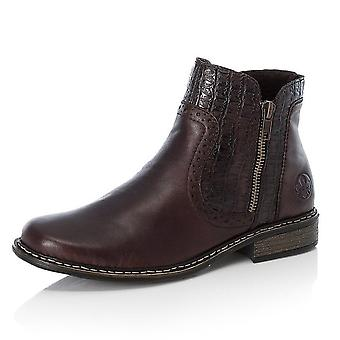Rieker Z49a1-26 Philippa Fleece Lined Fashion Boots In Brown