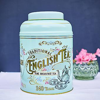 Vintage victorian tin with 240 english breakfast teabags