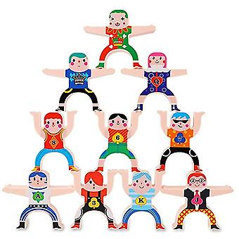 Building Blocks Toys Hercules Building Stacking Games, Toddlers Stacking Toys And Acrobatic Troupe Interlock Toys, Balancing Blocks Stacks Games Educa