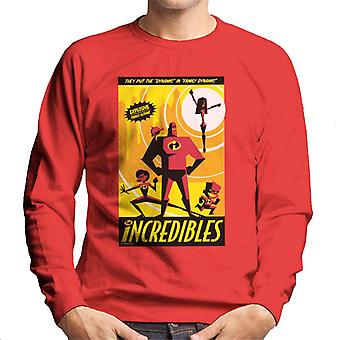 Pixar The Incredibles Family Dynamic Men's Collegepaita