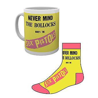 Sex Pistols Mug and Socks Gift Set Never Mind The.. Band Logo new Official