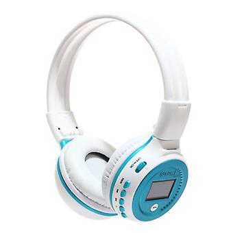 Zealot B570 Wireless Headphones with LED Display and FM Radio - Bluetooth 5.0 Wireless Headphones Stereo Studio Blue