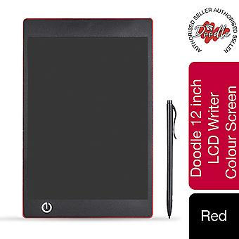 Aquarius Doodle 12inch LCD Writing & Drawing Tablet Board-Red