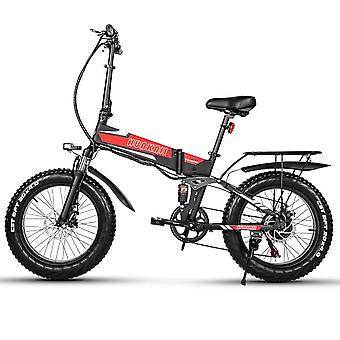 دواسة مساعد دراجة قابلة لإعادة الشحن قابلة للطي Ebike 500w 48v 12.8ah 20 بوصة الدهون