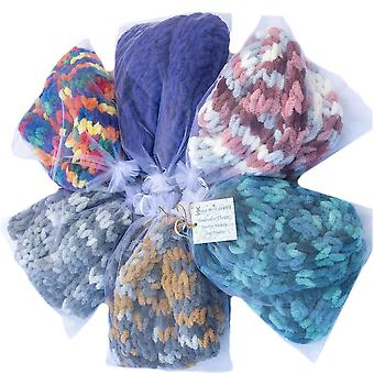 Ivy Mill Crafts UK Hand Made Scarf in Organza Gift Bag - Honey & Stone