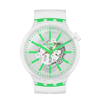 Swatch SO27E104 GREENINJELLY Big Bold Siliconen Horloge