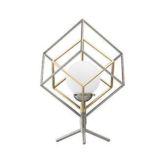 Neoclassic 44 cm sølv bordlampe