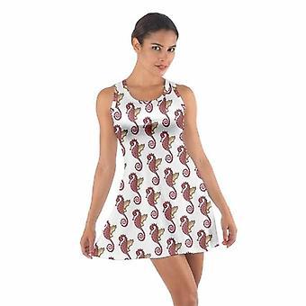 Cotton Dress Seahorse Pattern Cotton Racerback Dress