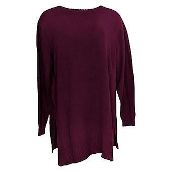 Joan Rivers Classics Collection Kvinder's Sweater Turtleneck Lilla A354044