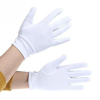 Short Satin Dance Performance - Elastic Gloves