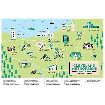Mapa do Desafio cleveland metroparks