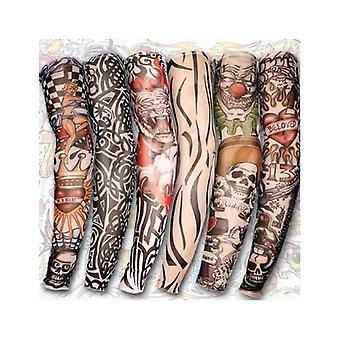 6 štýly nylon Stretch kostým falošný tetovanie rukáv ARM-Fancy šaty Pančucha