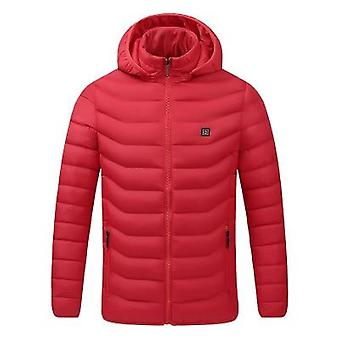 Men Winter Warm Usb Heating Jackets Smart Thermostat Pure Color Clothing