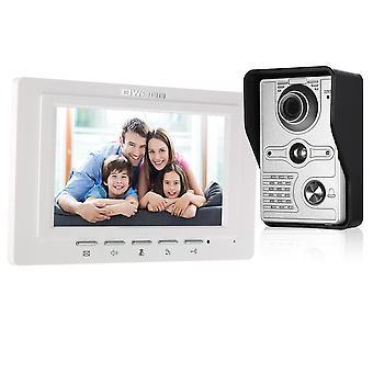 Tft LCD Wired Video Door Telefone Telefone Interfone Sistema de Interfone com impermeável